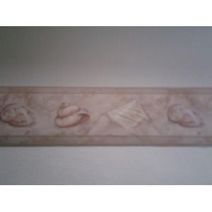 Frise salle de bain coquillages 10 ml mondecor for Frise murale salle de bain
