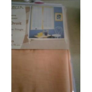 paire de vitrage droit cornely saumon mondecor. Black Bedroom Furniture Sets. Home Design Ideas