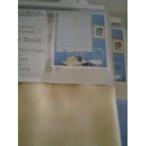 paire de vitrage droit cornely jaune p le mondecor. Black Bedroom Furniture Sets. Home Design Ideas