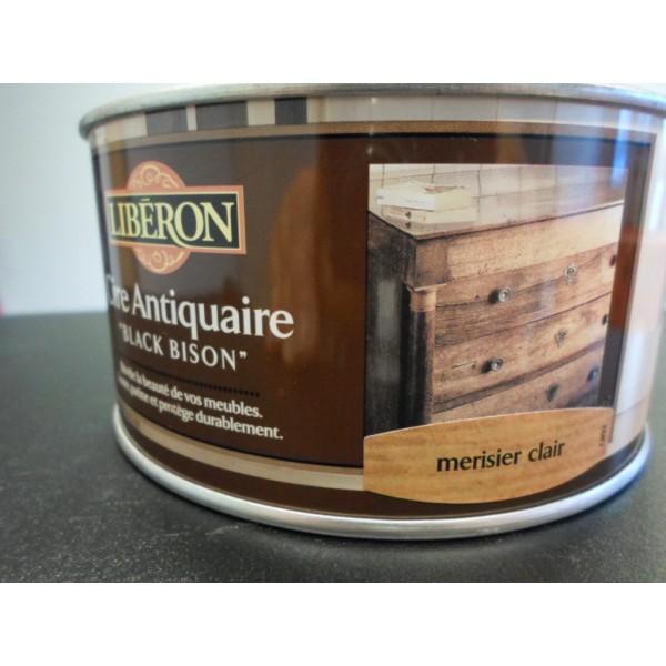 Cire des antiquaires en pate merisier clair 500 ml mondecor for Cire antiquaire black bison liquide