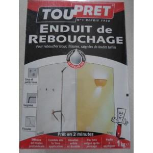 ENDUIT REBOUCHAGE POUDRE 1 kg TOUPRET