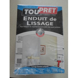 ENDUIT LISSAGE POUDRE 1 kg TOUPRET