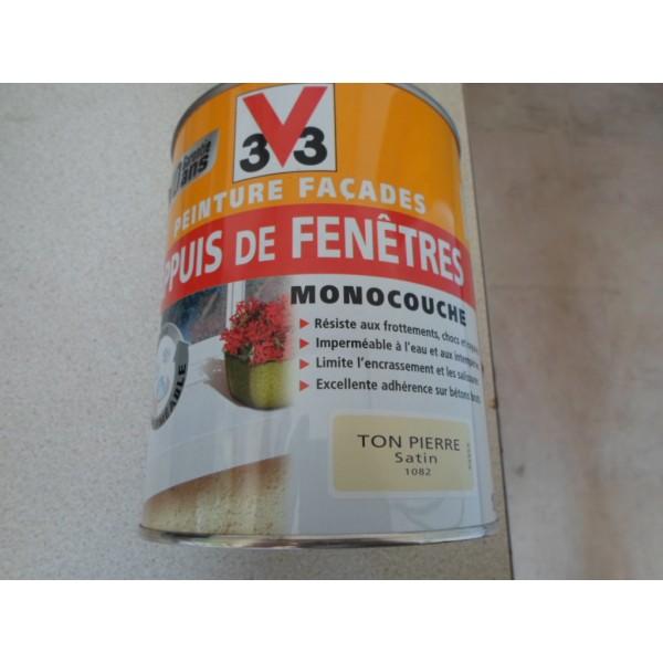 Peinture Facades Appuis De Fenetres Ton Pierre 1L - Mondecor
