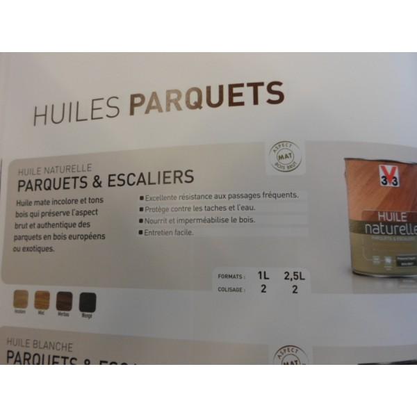 HUILE NATURELLE PARQUETS & ESCALIERS 2.5 L INCOLORE - MONDECOR