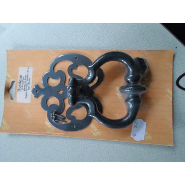 Marteau de porte d 39 entree en fer forge noir mondecor - Marteau de porte d entree ...