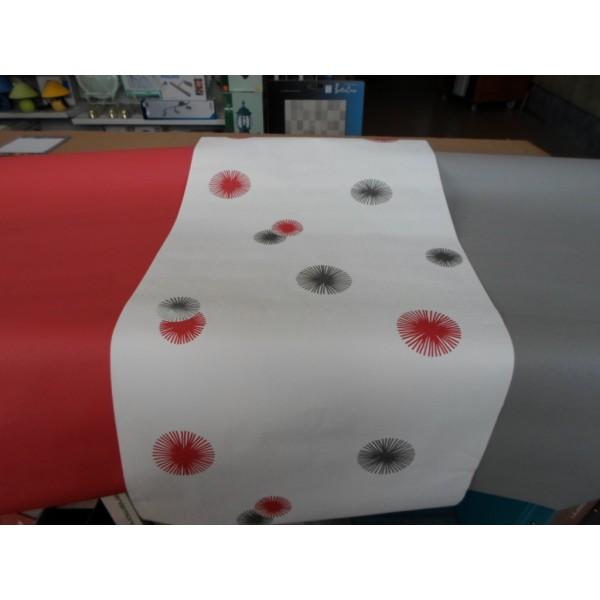 Papier peint intisse 53cm rouge mondecor for Papier peint lutece chambre