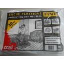 BACHE PLASTIQUE FINE 4X5 M