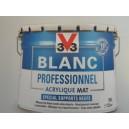 BLANC PROFESSIONNEL 10L MAT ACRYLIQUE