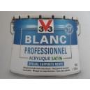 BLANC PROFESSIONNEL 10L SATIN ACRYLIQUE